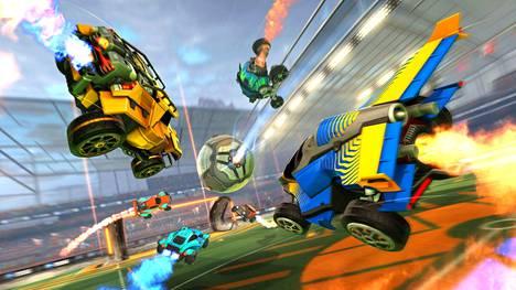 Rocket Leaguessa pelataan jalkapalloa rakettimoottoreilla varustetuilla autoilla.