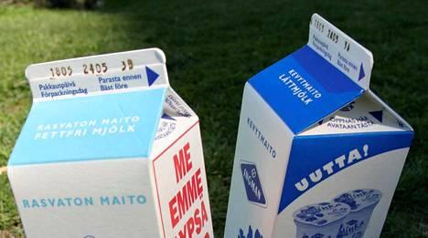 Maito säilyy yleensä 3-4 päivää parasta ennen -merkinnän jälkeen.