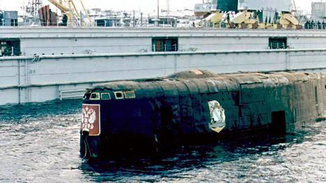 Kurskin hylky arkistokuvassa vuodelta 2001.