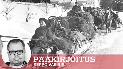 Talvisodan evakkoja. Suomen siviilit kärsivät sodasta, mutta paljon vähemmän kuin monissa muissa maissa. Se oli suomalaisten reservin sotamiesten ansioita.