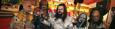 Lordi poseerasi Cannesin punaisella matolla viime vuonnakin.