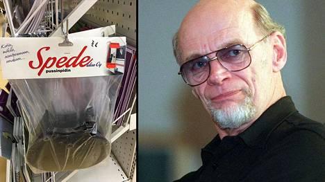Speden keksimiä pussinpitimiä myydään edelleen.