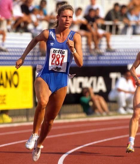 Katrin Krabbe vuonna 1990.
