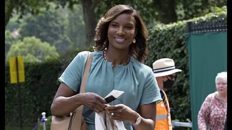Denise Lewis kuvattuna tämän vuoden Wimbledonin tennisturnauksessa.