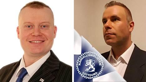 Murhan yrityksestä epäiltynä vangitut Teemu Torssonen ja Tero Ala-Tuuhonen.