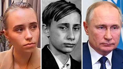 Jelizaveta Krivonogih (vas.) käyttää nykyisin nimeä Luiza Rozova. Hän on myöntänyt venäläistoimittajille, että hänessä on samaa näköä kuin presidentti Vladimir Putinissa (oik) oli tämän nuoruudenkuvissa (kesk).