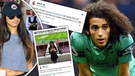 """Ex-pornotähti kuittaili Arsenalin pelaajalle – julkaisi härskin viestin: """"Enemmän kuin minä 2014"""""""