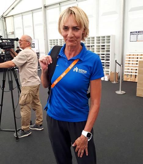 Heike Drechsler-Bryggare työskenteli viime kesänä Berliinin EM-kisoissa toimitsijana.