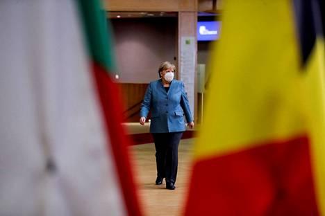 Angela Merkel kuvattuna Brysselissä 15. lokakuuta.