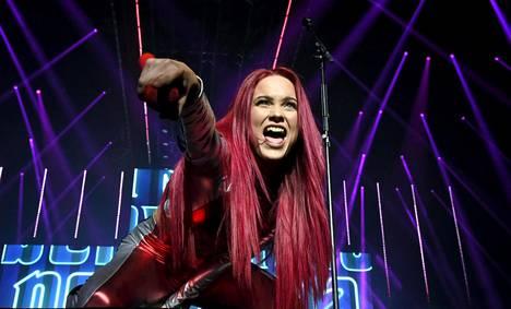 Laulaja Sanni esiintyi Helsingin Areenalla Mun nimi on Sanni -konsertissaan perjantaina 5. lokakuuta 2018.