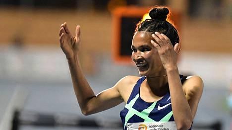 Letesenbet Gidey juoksi lokakuussa 5000 metrin maailmanennätyksen.