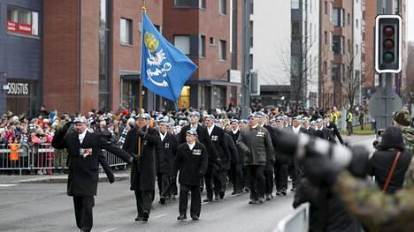 Itsenäisyyspäivän valtakunnallinen paraati järjestettiin Tampereella 6. joulukuuta 2019.