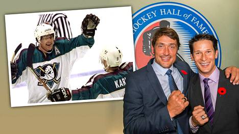 Entiset ketjukaverit Teemu Selänne ja Paul Kariya aateloidaan Hockey Hall of Fameen Torontossa.