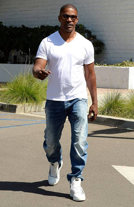 Näyttelijä Jamie Foxx, 47, on pitänyt itsensä hyväkuntoisena.