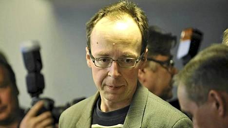 Perussuomalaisten Jussi Halla-aho ei innostunut, kun Helsingin Sanomat kyseli häneltä tämän vanhasta blogitekstistä.