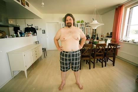 Aiemmin Kari painoi yli 100 kiloa.