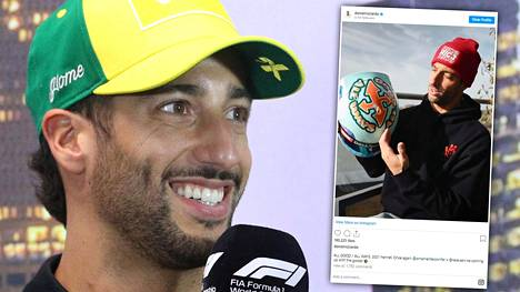 Daniel Ricciardo kertoi, mitä haluaa uudella kypärällään viestittää.
