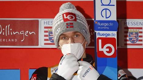 Halvor Egner Granerudin perjantainen pistepotti 259,9 olisi riittänyt kilpailun voittoon. Arkistokuva.