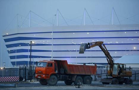 Kaliningradin stadion oli venäläismedian mukaan yksi MM-kisojen kalleimmista rakennusprojekteista.