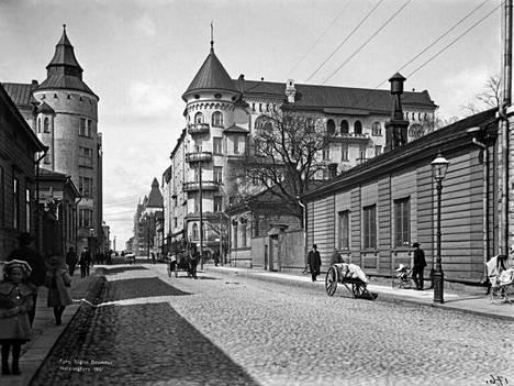 18. Fredrikinkatu vuonna 1907.
