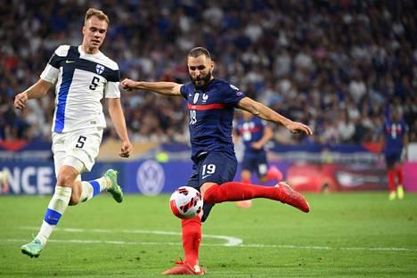 Karim Benzema oli paha pideltävä. Hän syötti Antoine Griemannin ensimmäisen maalin.