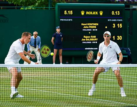 Henri Kontinen ja John Peers pelasivat Wimbeldonin tennisturnauksessa heinäkuussa 2019.