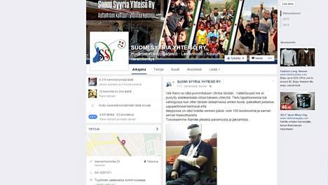 Kuva loukkaantuneesta Rami Adhamista on julkaistu Suomi Syyria Yhteisön Facebook-sivuilla.