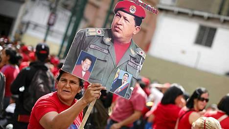 Venezuelassa juhlittiin virkaanastujaisia ilman Chavezia.