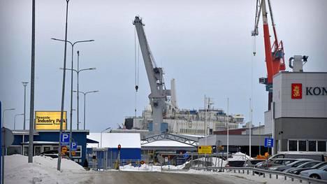 Rauman telakka 23. helmikuuta.
