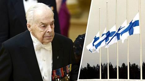 Sisäministeriö toivoo koko maan kattavaa suruliputusta ensi lauantaina Mannerheim-ristin ritarin Tuomas Gerdtin hautajaisten johdosta.