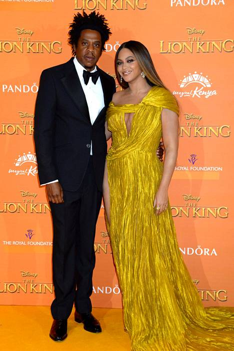 Beyonce ja Jay Z Leijonakuninkaan ensi-illassa.