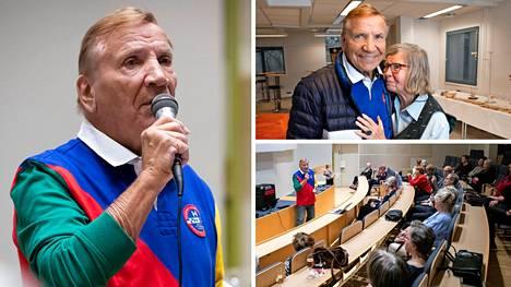 Eino Grön esiintyi viidellekymmenelle eläkeläiselle ja vanhukselle.