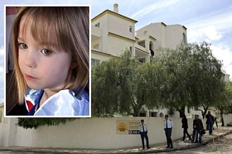 Portugalin poliisin mukaan Madeleine (vas.) kuoli pudottuaan kuvassa näkyvän McCannin perheen loma-asunnon portaissa.