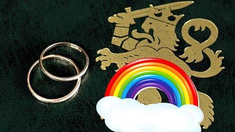 Tasa-arvoinen avioliittolaki astuu voimaan huomenna.