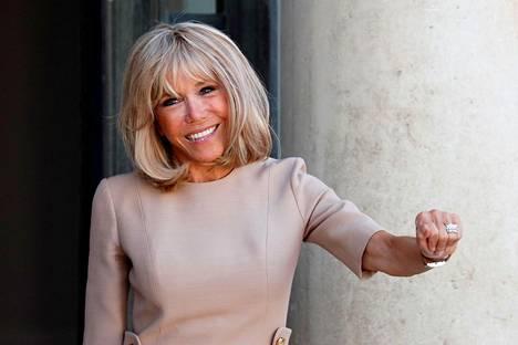Brigitte Macron Pariisissa viime viikolla.