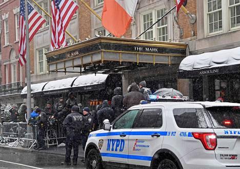 Manhattanilla sijaitseva luksushotelli The Mark sai kunnian toimia herttuattaren vauvakutsujen juhlapaikkana.