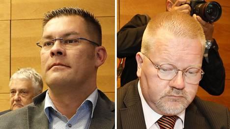 Janitskin ja Bäckman oikeudessa kesäkuussa 2018.