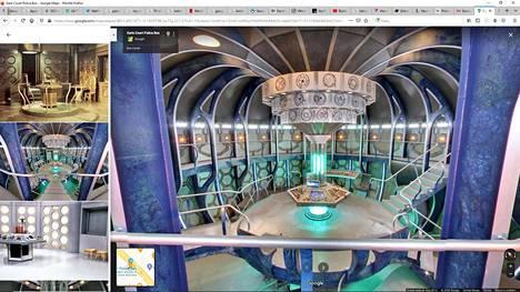 Doctor Whosta tuttu Tardis odottaa matkustajia Google Mapsissa.