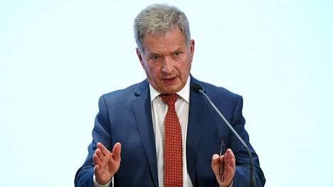 Tasavallan presidentti Sauli Niinistö puhui suurlähettiläspäivillä 24. elokuuta.