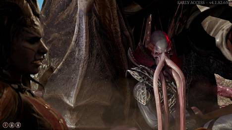 Baldur's Gaten pahiksina nähdään Forgotten Realms -kirjoista tutut lonkeroiset mind flayerit eli mielennylkijät. Päähahmo saa pelin alussa päähänsä loisen, jonka muuttaa hänet mielennylkijäksi, jollei apua tule ajoissa.