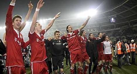Bayern München juhli 4-1-voittoa Torinossa.