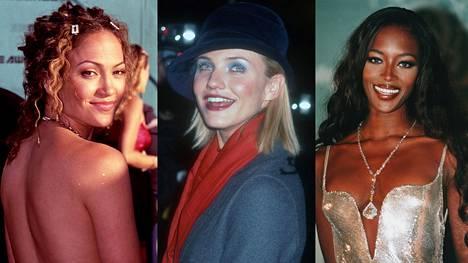 Ihanan ysäriä! Katso, kuinka Jennifer Lopezin, Cameron Diazin ja Naomi Campbellin takavuosien lookit tuodaan tähän päivään.