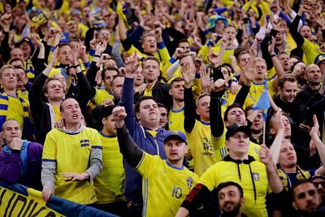 Ruotsin kisapaikan varmistuminen sai fanit riemuitsemaan.