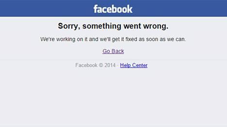 Facebook Kaatunut