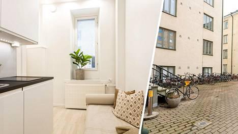 Helsingin Alppilassa myydään asuntoa, jossa on vain seitsemän neliötä.