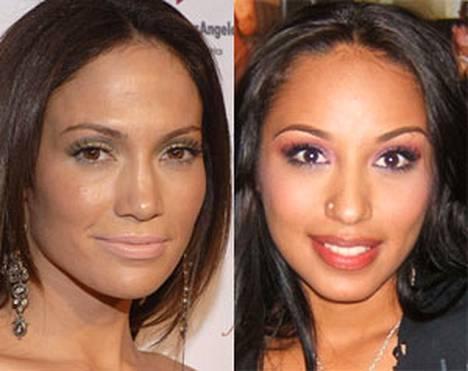 Kumpi on kampi? Vasemmalla aito J-Lo ja oikealla J-Ho.