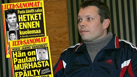 Murhasta elinkautista vankeutta istuva Jarmo Björkqvist anoo ehdonalaiseen vapauteen pääsyä. Jämsässä tapahtunutta murhaa seurattiin valtakunnallisissa tiedotusvälineissä laajasti. Jarmo Bjrörkvist kuvattuna käräjäoikeudessa Jämsässä vuonna 2006.