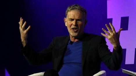 Netflixin toimitusjohtaja Reed Hastings esiintyi Barcelonan mobiilimessuilla helmikuussa.