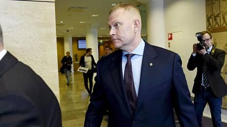 Karjalan lennoston entinen komentaja Markus Päiviö Helsingin hovioikeudessa 2. toukokuuta 2019.