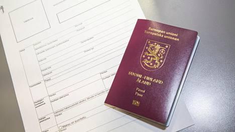 Passi ja hakemuslomake. Kuvituskuva.